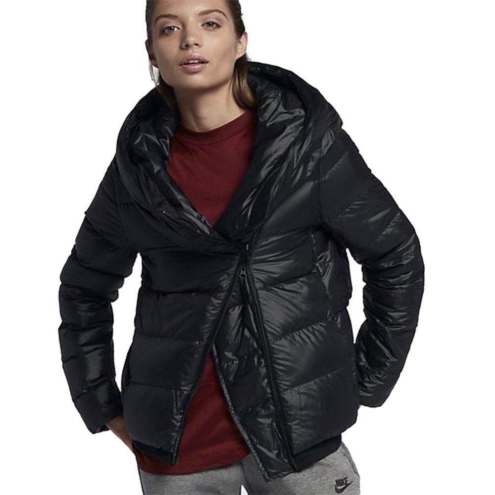 NIKE Women s Sportswear Puffer Down Jacket Black Cool Grey 854767 ... 75a6487ae