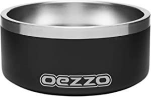 Customized Stainless Steel Dog Bowls, Heavy Duty, Anti-Rust, Non-Slip Silicone Bottom Ring, Branded Laser Engraved, Best Dog Dish for Small, Medium and Large Dogs (32oz, Black)