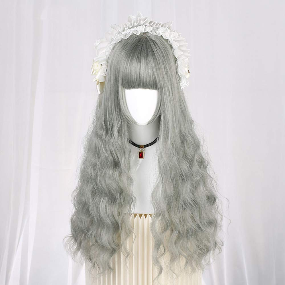 Wig Long Curly-Pelo De Maíz Whiskcorn Hot Wig Mujer 65 cm más o ...