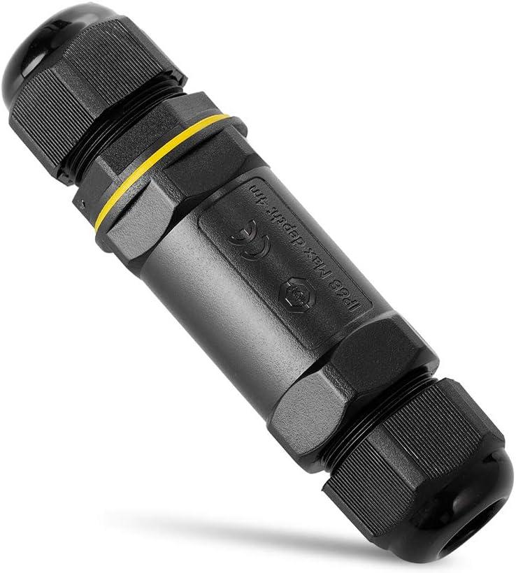 Connecteur de c/âble 5 broches /étanche IP68 Bo/îte de connexion pour c/âble de /Ø 1-14 mm