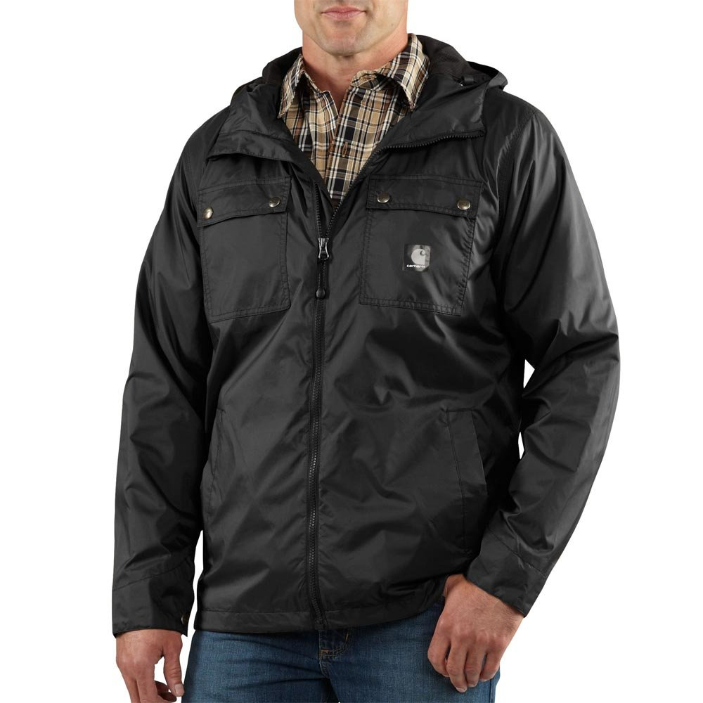 Carhartt Men's Big & Tall Rockford Rain Defender Jacket,Black,X-Large Tall