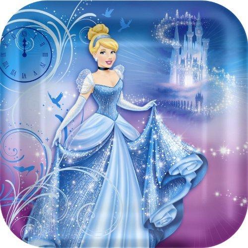 Hallmark Cinderella 'Sparkle' Large Paper Plates (8ct) -