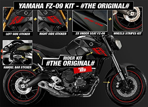 Yamaha fz 09 street fighter stickers kit the original red accessories amazon canada