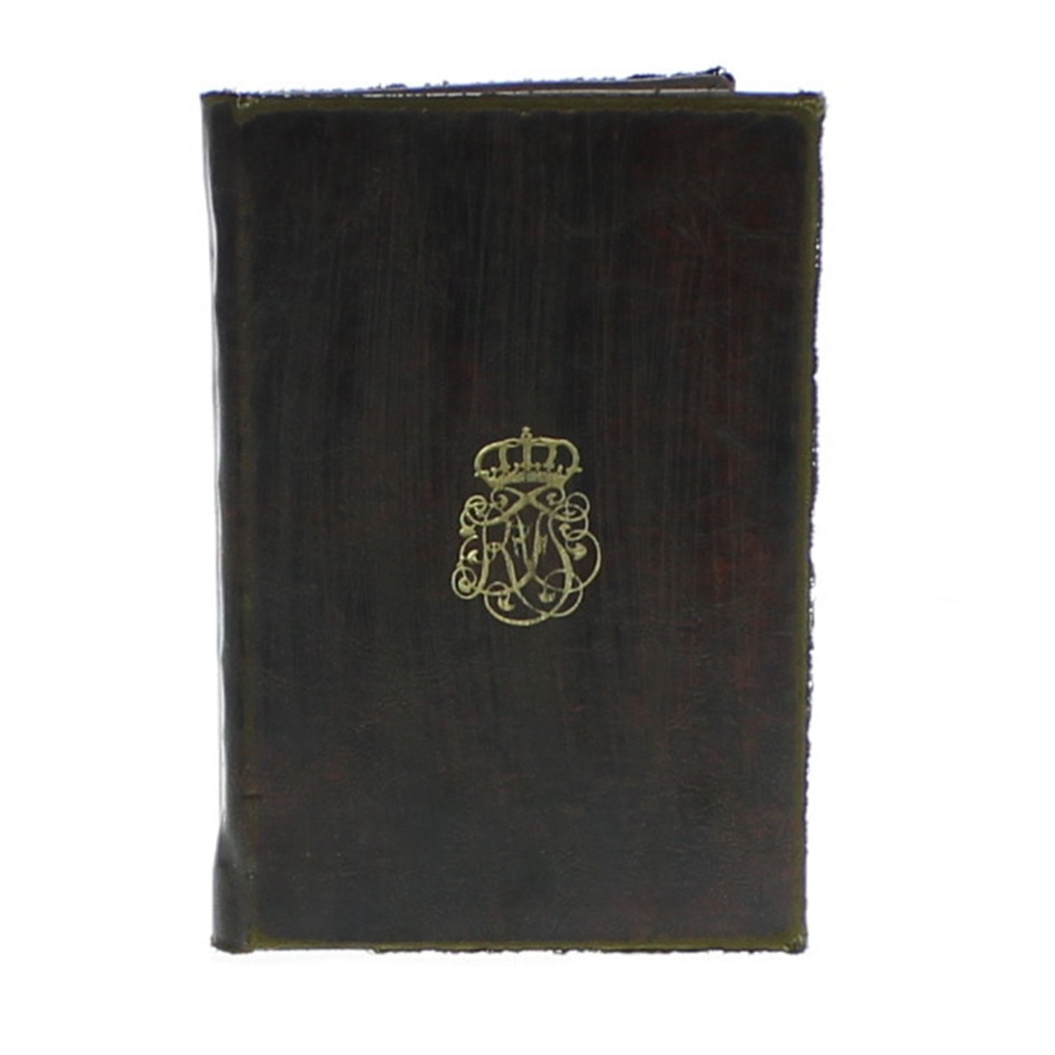 HomArt Royal Embossed Journal - Monogram (Brown) (Set of 12)