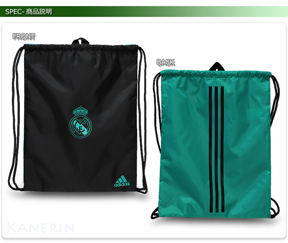 factory authentic a7196 d825b adidas Gym Real Madrid Bag - Black Negro Arraer  Amazon.co.uk  Sports    Outdoors