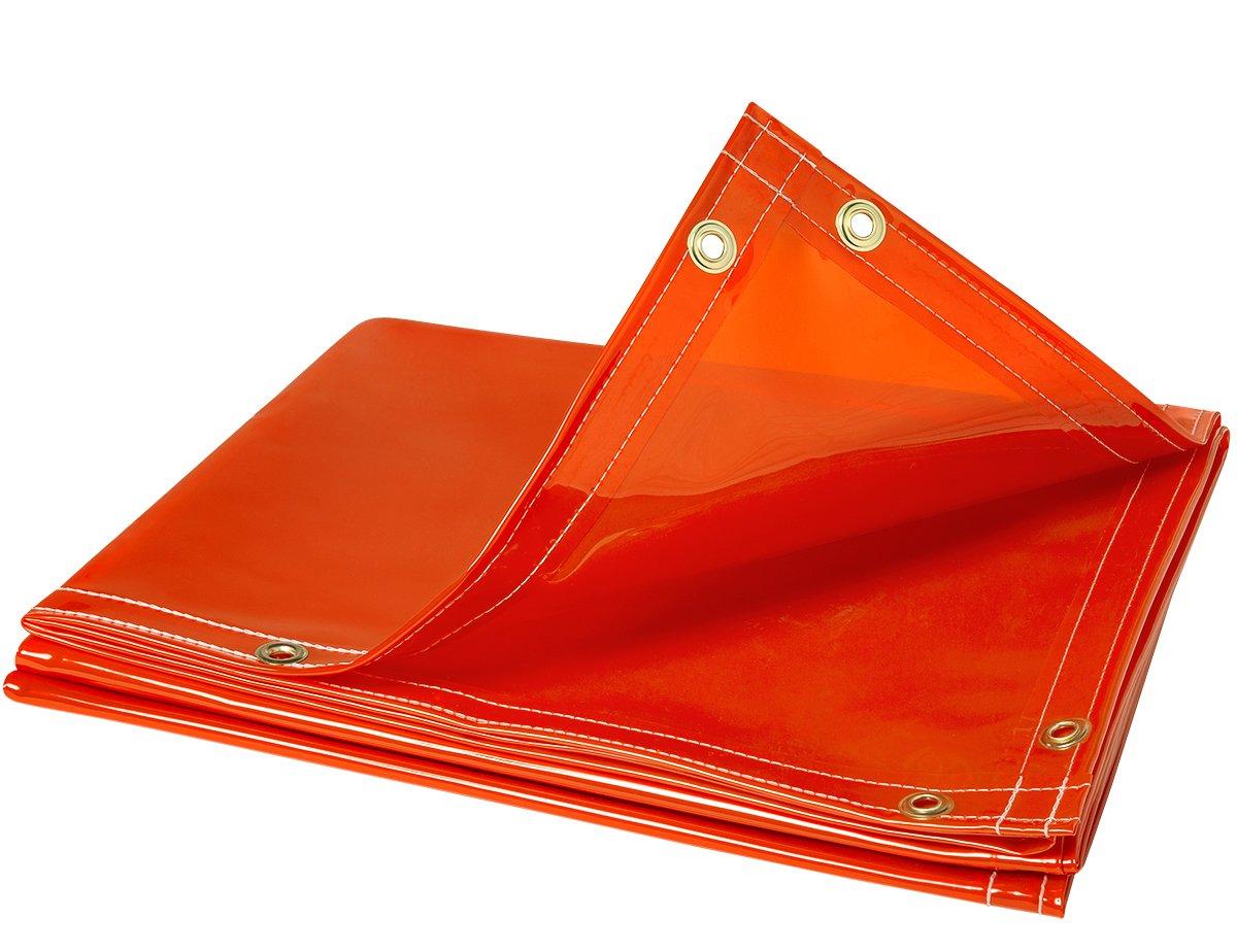 Steiner 338-6X8 ArcView 14 mm Flame Retardant Orange Tinted Transparent Vinyl Welding Curtain, 6' x 8' 6' x 8' ERB