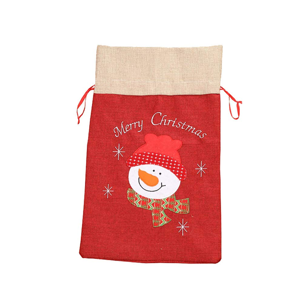 Christmas Stockings Mini Gift Cards Bag Totes Santa Claus Holiday Home Party Decorating for Kids (B)