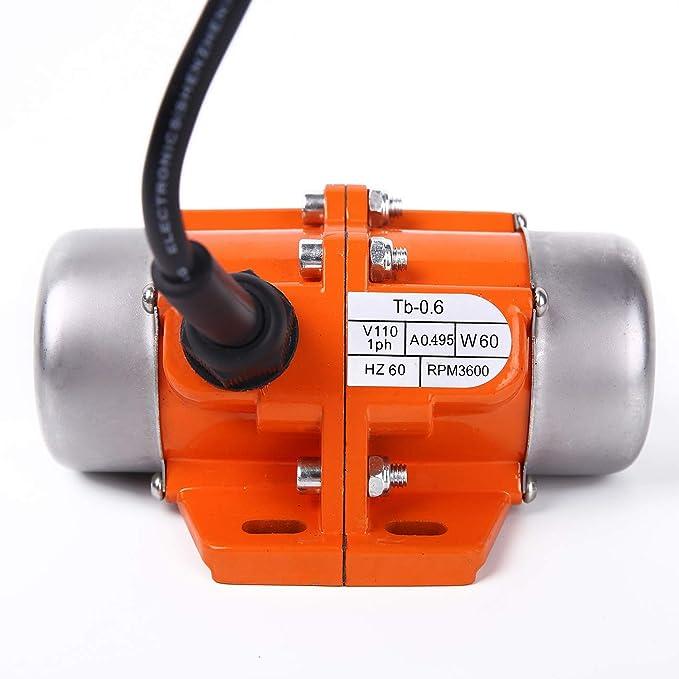 50W Concrete Vibration Motor AC 110V 3600RPM Single Phase Vibrating for Shaker Table