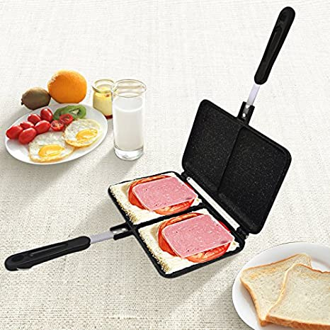 Amazon.com: TINTON LIFE Sandwich Toaster Cooker Snack Maker Pressure Pan Nonstick Double Side with Handles For Stovetop: Kitchen & Dining
