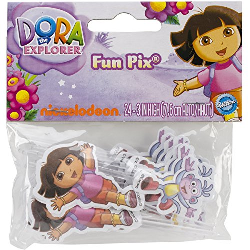 Dora The Explorer Fun Cupcake/Cake Pix, 24-Pack - Wilton 2113-6301