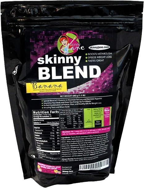 Skinny Jane Mezclar mejor sabor batido de proteína para las mujeres la pérdida de peso Batido de polvo Shakes Meal Replacement Protein Shake baja en ...