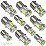 LUYED 10 x 1156 5050 13-smd White Color 1156 1141 1003 7506 LED Bulbs for Back Up Reverse Lights,Brake Lights,Tail Lights,Rv lights
