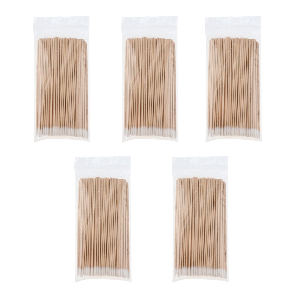 MagiDeal 500pcs Durable Wooden Long Handle Pointed Cotton Swabs Remover Cleaning Sterile Sticks for Daily Cleaning Use, Polishing Jewelry, Arts and Crafts - Wood, 2# non-brand