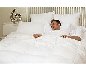 Supremium Baffle Box Medium Weight Hungarian Goose Down Comforter