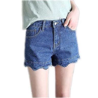 womens loose fit denim shorts