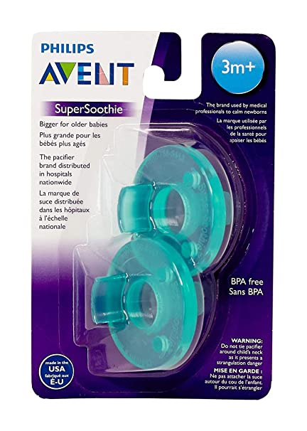 Green 0-3 Months 2 Count Philips AVENT Soothie Pacifier