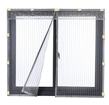 Liveinu Cortina Mosquitera Magnética Para Puerta Ventana Con Clip Adhesivo,Mosquitera Para Puerta Ventana Protección Contra Insectos Magnético Mosquitera ...