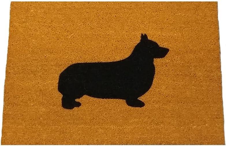 """Corgi Silhouette Doormat (18""""x30"""")"""