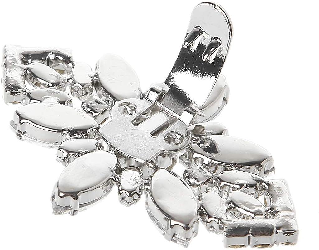 follwer0 Clip De Chaussures Boucle Strass D/écoration De Mariage Floral Bricolage Charmes Femmes Accessoire