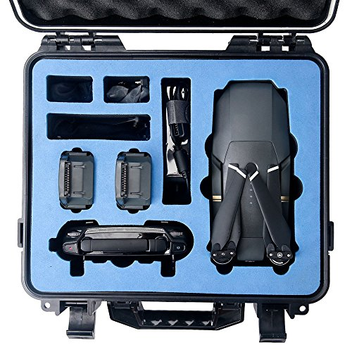 HOBBYTIGER DJI Mavic Pro Hard Case - Waterproof Rugged Compact Storage Case