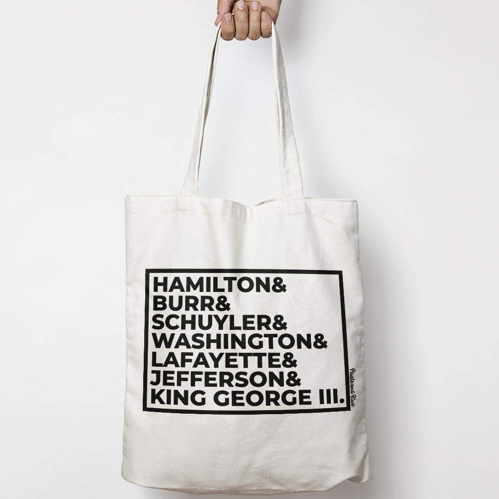 HAMILTON THE MUSICAL squad goals natural cotton canvas tote bag