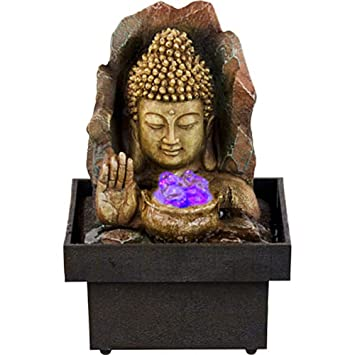 Kheops International   Water Fountain Buddha With Hand U0026 Small Light