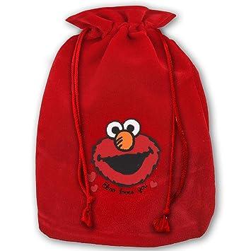 Amazon Com Bags Elmo Girls Denim X Mas Red Gift Bags For