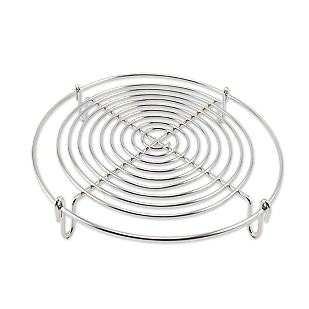 Round Steamer Rack and Cooling Rack,Wire Steamer Kettle Rack Holder Fit For All Pots Pans Up,Stainless Steel For Cooking 5-Inches (1)