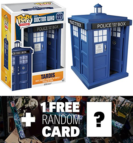 "T.A.R.D.I.S: ~6"" Deluxe Funko POP! x Doctor Who Vinyl Figure + 1 FREE Official Dr Who Trading Card Bundle [52867]"