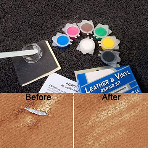 No Heat Leather /& Vinyl Repair Kit For Car Seat Cracks Rips Holes Scratches