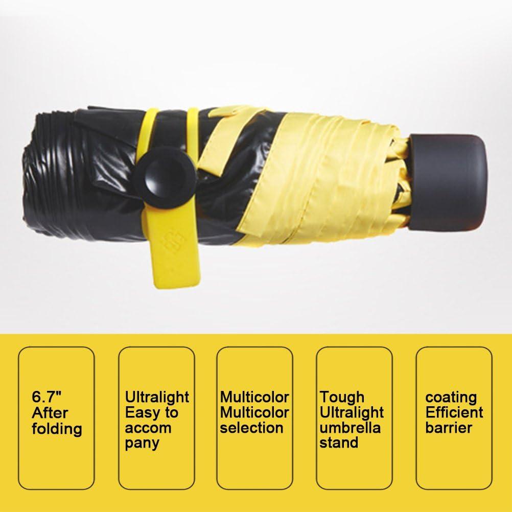 Zhhlinyuan Light Folding Umbrella Waterproof UV Protection Portable Umbrella