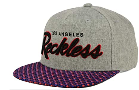 821c2b5ea6cb9 Image Unavailable. Image not available for. Color  Young   Reckless OG SP16  Gray Navy Snapback Hat Cap