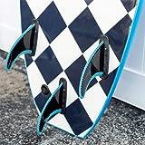 KONA SURF CO. The 4-4 Soft Top Foam Short Softboard Hybrid Boogie Bodyboard Surfboard Package Includes Fins and Leash
