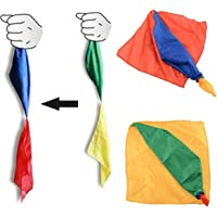 Windup Change Color Silk Magic Trick - Close Up Magic Trick Illusion Prop Toy for Kids - Size: Small