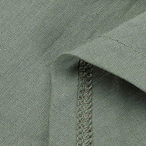 Casuale Vestito Lunga Lungo Patchwork Sciolto Le 2l Di 4l Larghi 3l Tunica Verde Lino Maxi Donne Per Dimensioni Birdfly Manica Più Cotone IE5qwxvn