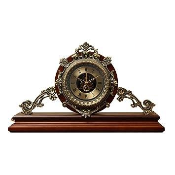 Escritorio Escritorio Reloj Sala de Estar Moda Creativa Ornamentos Antiguos Reloj Reloj Escritorio Reloj Antiguo Reloj: Amazon.es: Hogar