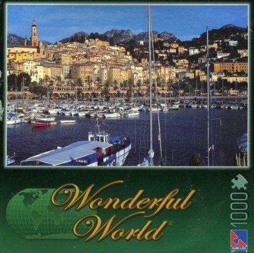 Wonderful World: Cote D'Azur, France - 1000 Piece Jigsaw Puzzle