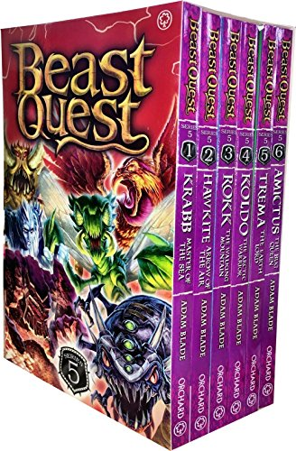 Beast Quest Series 5 The Shade of Death 6 Books Collection Box Set by Adam Blade (Sea Quest Adam Blade)