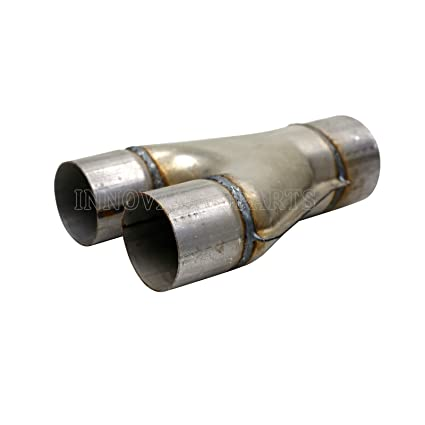 X Pipe Y Pipe 2.5 3 Dual Inlet Outlet Exhaust Pipe Adapter Connector Stainless Steel Weld On Downsize Splitter Y-Pipe 3 Inlet to 3 Outlet
