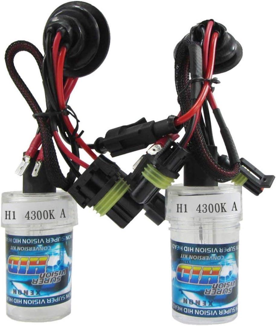 Lampadine + reattori * 2 4300K ETbotu 2PCS//Set 55W H1 HID Xenon Bulbs Conversion Kit