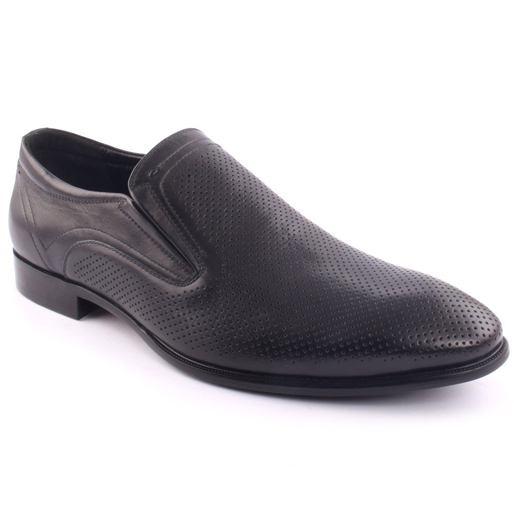 Unze Men's 'Aundrey' Leather Perforated Formal Slip-on Prom Wedding Party Office Oxfords UK Size 7-11 - F2308-921