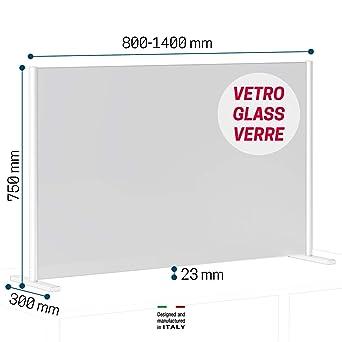 Novellini BeSafe Wall V3 Mamparas Para Oficinas De Vidrio Transparente 6mm Mampara Mostrador Mamparas Proteccion Mostrador Mampara Protectora Mostrador Mampara Proteccion Mostrador Pantalla Mostrador: Amazon.es: Industria, empresas y ciencia