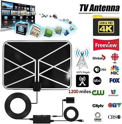 Generp 1200 Mile - Antena de TV Digital 4K HDTV ATSC HD ...