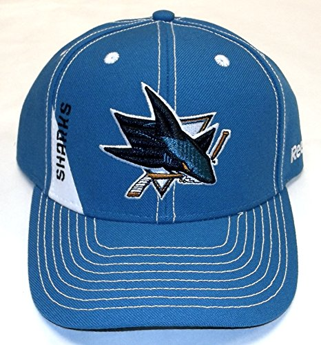 Reebok San Jose Sharks NHL Structured Adjustable Hat