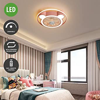 Ventilador de techo redonda LED tres tonos enciende el ventilador ...
