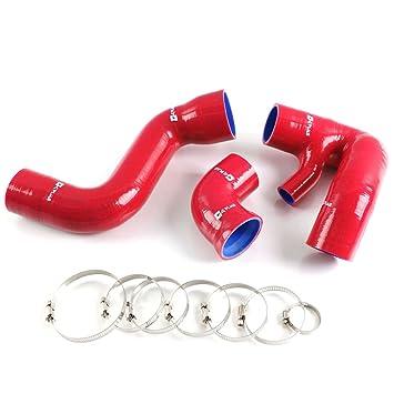 Silicona Intercooler Turbo Boost manguera para Audi A4 4B 1.8T QUATTRO/Volkswagen Passat rojo: Amazon.es: Coche y moto