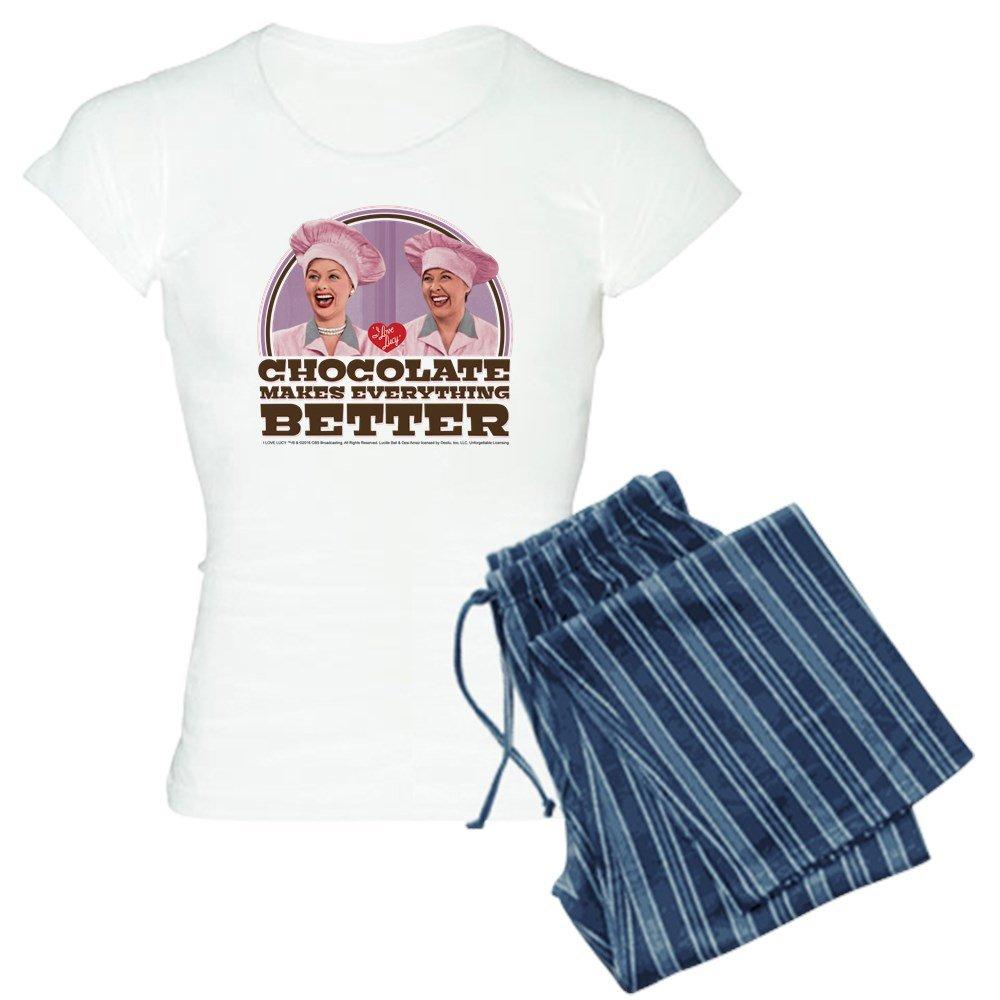 CafePress - I Love Lucy: Chocolate Make - Womens Novelty Cotton Pajama Set, Comfortable PJ Sleepwear