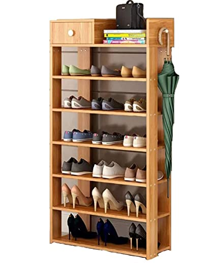 How To Make A Wooden Shoe Rack.Wanforjewellery Shoe Racks 7 Tier Diy Solid Wooden Shoes