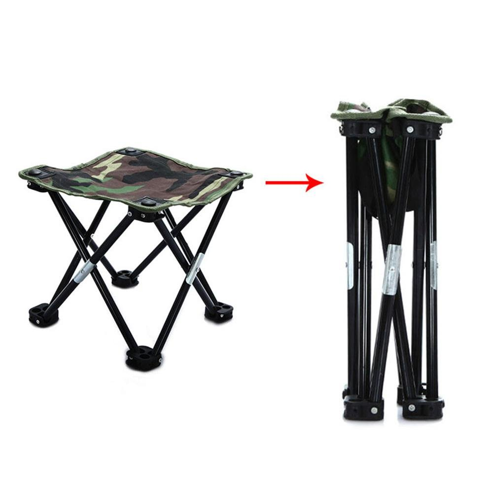 KOBWA Portable Mini Stool Folding Camping Stool Lightweight Frame Stool Durable Outdoor Folding Chair For BBQ Fishing Hiking Mountaineering Traveling