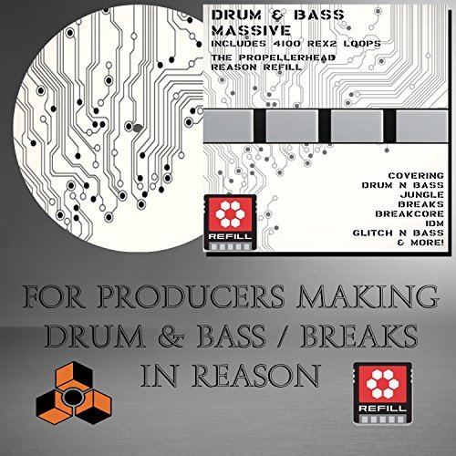 Propellerhead Reason Drum Kits - Drum 'n Bass Massive - (Propellerhead Reason Refill) (4100 DrRex LOOPS & 3100 Wav samples) - For producers using Reason 5 /6 /6.5/ 7/ 8